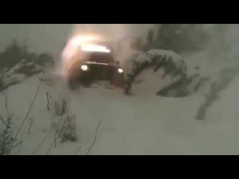 Toyota Tacoma TRD Digging in deep snow