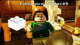 Lego The Hobbit - Fireplace Replaced Mithril Brick Side Mission #3 Bree