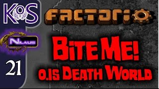 Factorio 0.15 Bite Me! Ep 21: Building Up Production - Death World COOP MP Gameplay, Let
