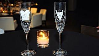 Мастер класс свадебных бокалов жениха и невесты