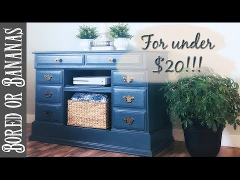 Desk Upcycle into DIY TV Stand