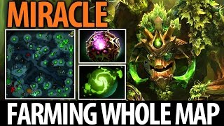 Miracle- [Treant Protector] Farming the Whole Map► Octarine Core & Refresher- Dota2 7.05