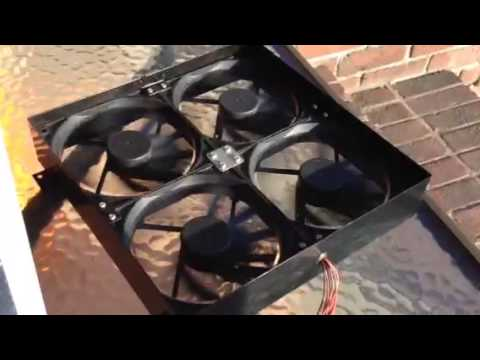 Solar powered gable attic fan install review DIY pt 1 YouTube