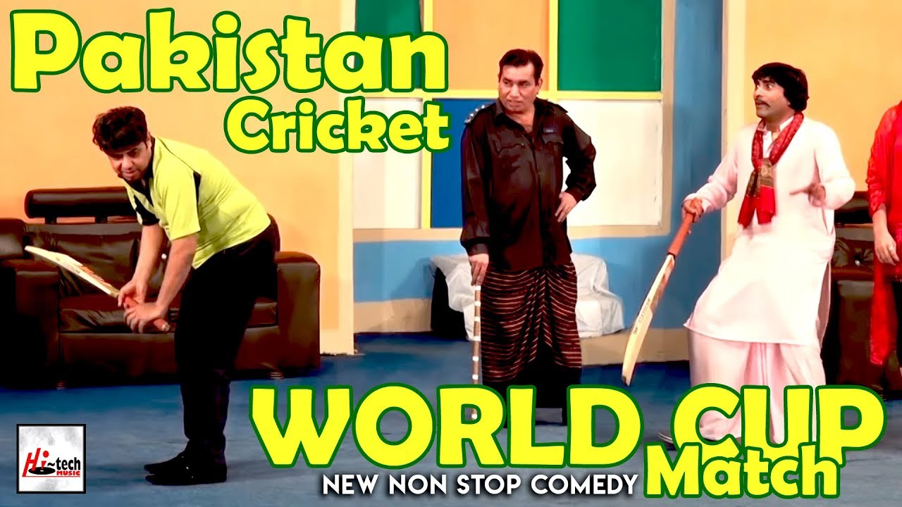 Pakistan Cricket World Cup Match 2019 - NASIR CHINYOTI, NASEEM VICKY Must Watch Funny??Stage Drama