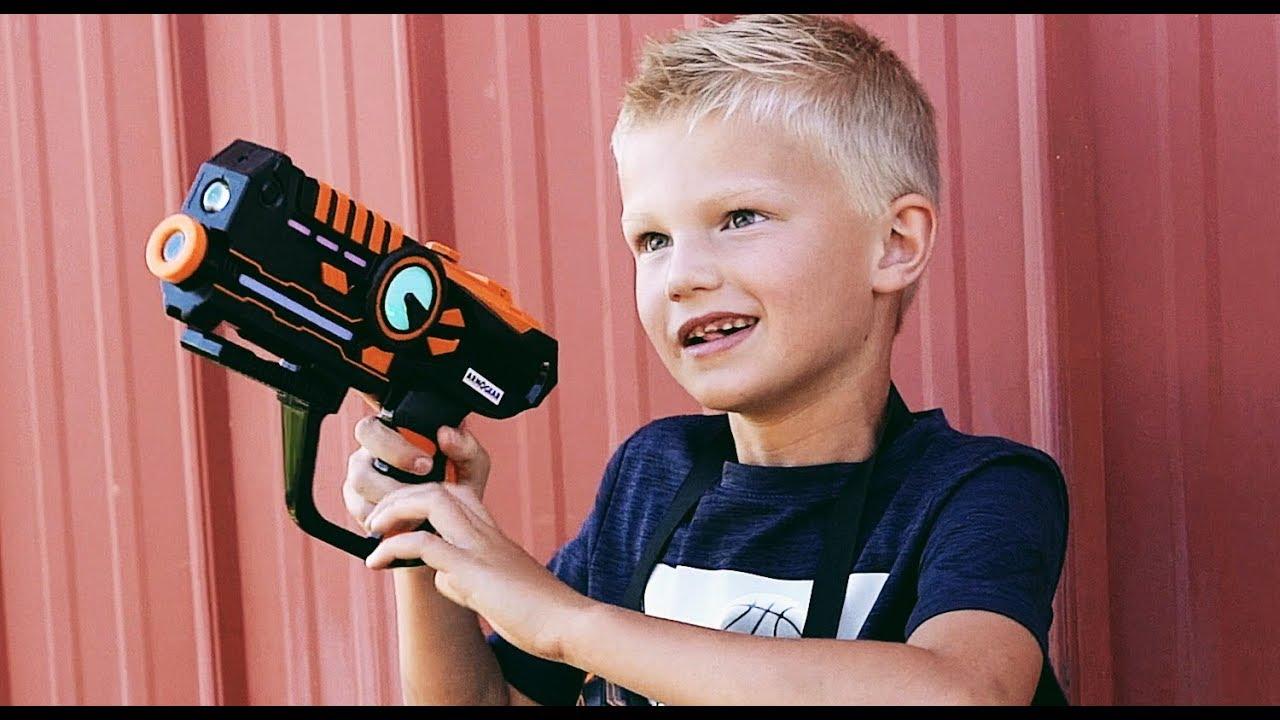 Dad vs Kids Laser Tag Battle by Armogear