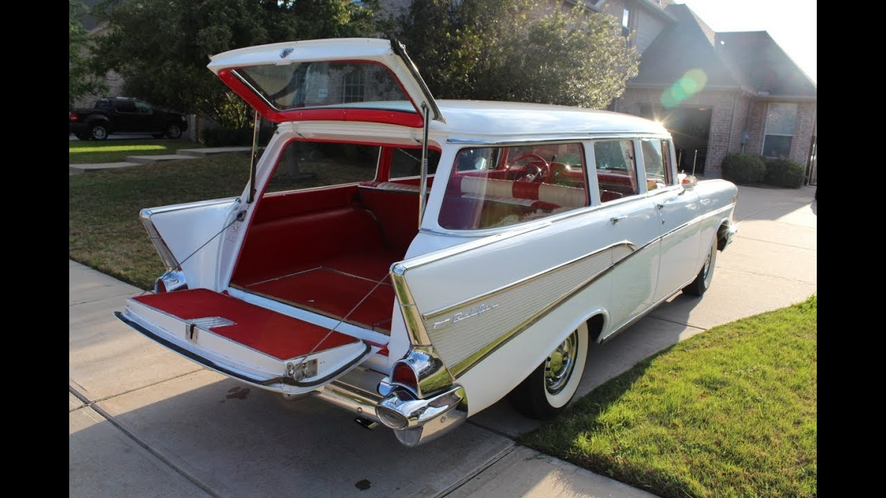 1957 chevy bel air wagon hums and purrs for sale youtube for 1957 chevy 4 door wagon for sale