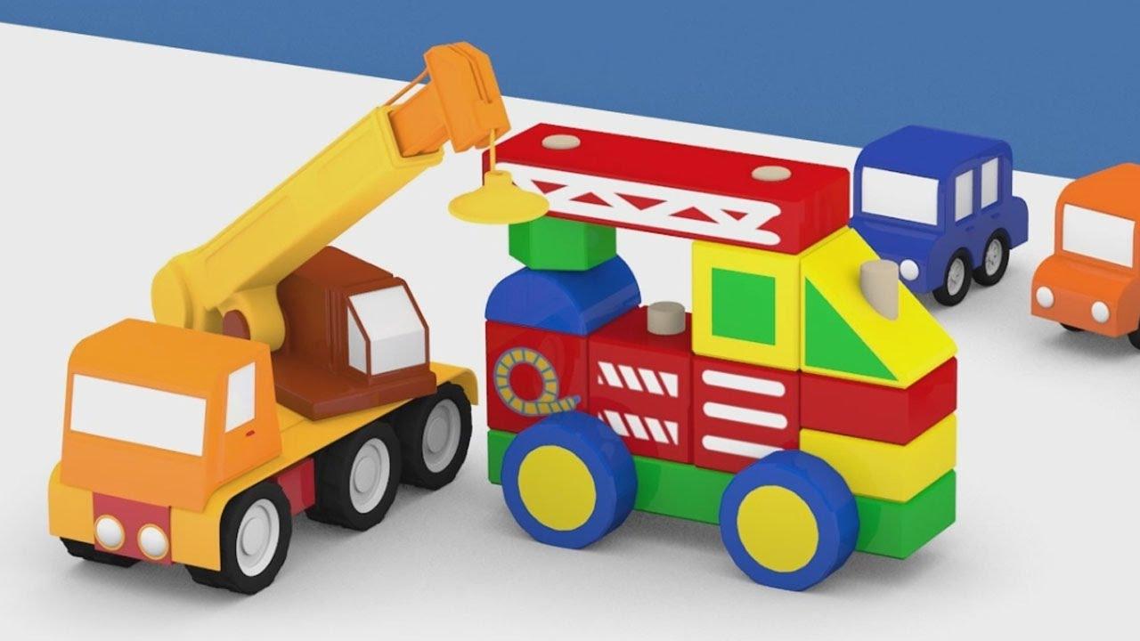 Cartoni animati per bambini macchinine colorate e il