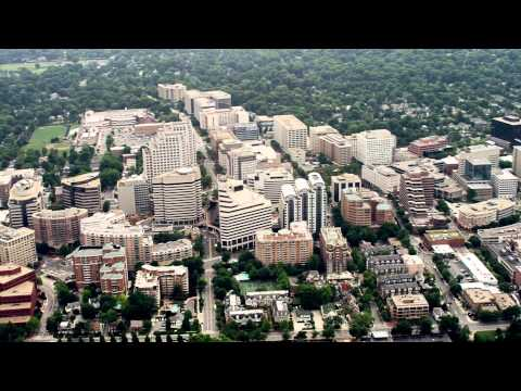 An aerial perspective of Bethesda, MD