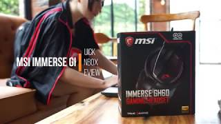 MSI Immerse GH60 Quick Unbox & Review, HEADSET IMBA