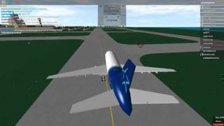ROBLOX PLANE LANDING IN ROBLOX A PLACE WITH AIRLINES