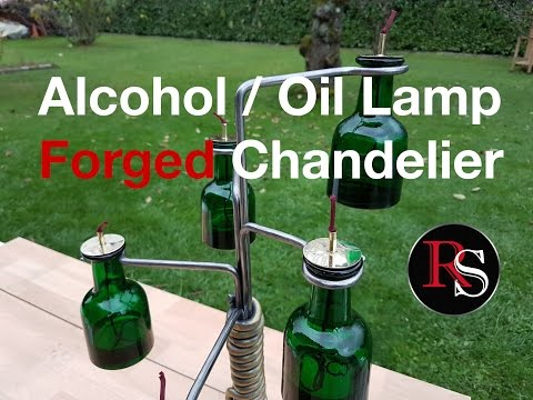 Blacksmithing - Forging A Chandelier with Alcohol or Oil Lamp