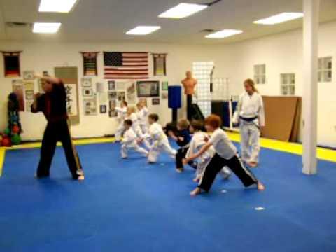 "Shihan Kevin Bergquist teaches his ""Lil' Dragons"" the Shuto-Uchi Karate Chop"