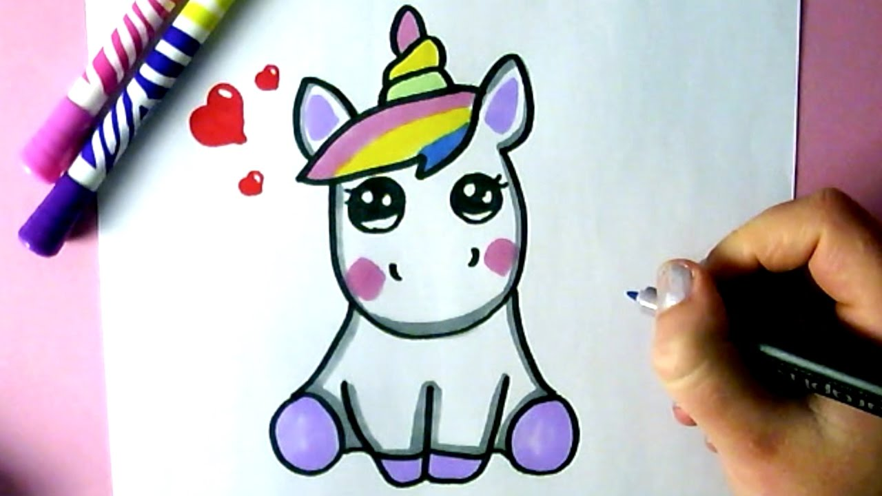 Weihnachtsbilder Comic.How To Draw A Cute Unicorn