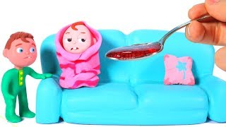 Baby Lucas Has A Cold ❤ Cartoons For Kids