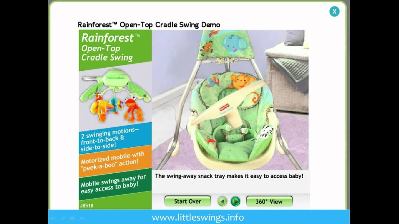 fisher price rain forest open top cradle swing youtube rh youtube com fisher price rainforest baby swing manual fisher price rainforest baby swing weight limit