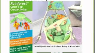Fisher-price Rain Forest Open Top Cradle Swing