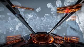 Elite: Dangerous - Speeding through an asteroid belt in an Impirial Eagle
