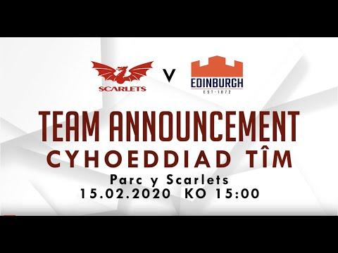Scarlets v Edinburgh , PRO 14 , 15.02.2020