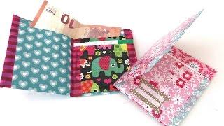 Geldbörse / Portmonee aus Papier falten / eigenes Portmonee basteln / DIY wallet