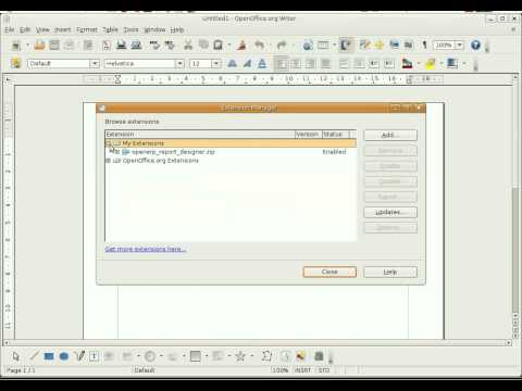 Installation of Open Office Report Designer with OpenERP