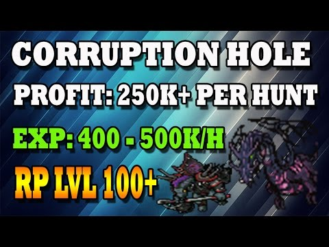 CORRUPTION HOLE | RP 100+ | Full profit - Tibia (Español)