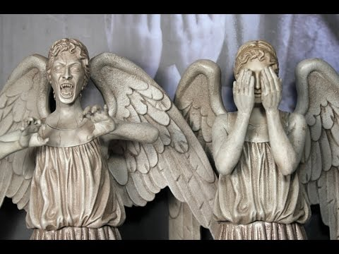 Doctor Who WEEPING ANGELS Big Chief Studio figures review