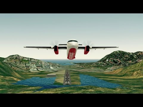 [HD] Infinite Flight. Airberlin Dash 8 takeoff and landing at St Barthelemy Airport