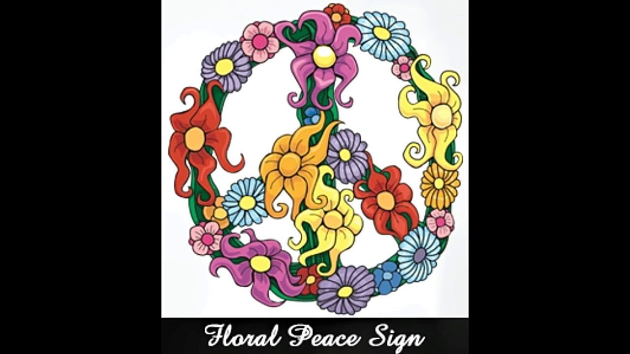 Free printable coloring pages peace sign - Simple And Attractive Free Printable Peace Sign Coloring Pages