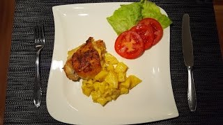 Куриные ножки с картошкой в духовке, Картошка с окорочками в духовке. Вкусный и быстрый Видеорецепт.