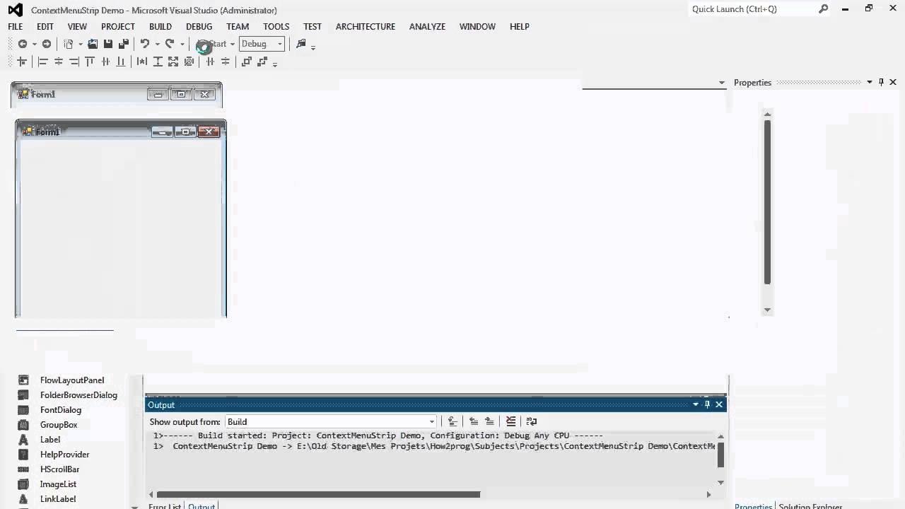 56. برمجة الواجهات - ContextMenuStrip