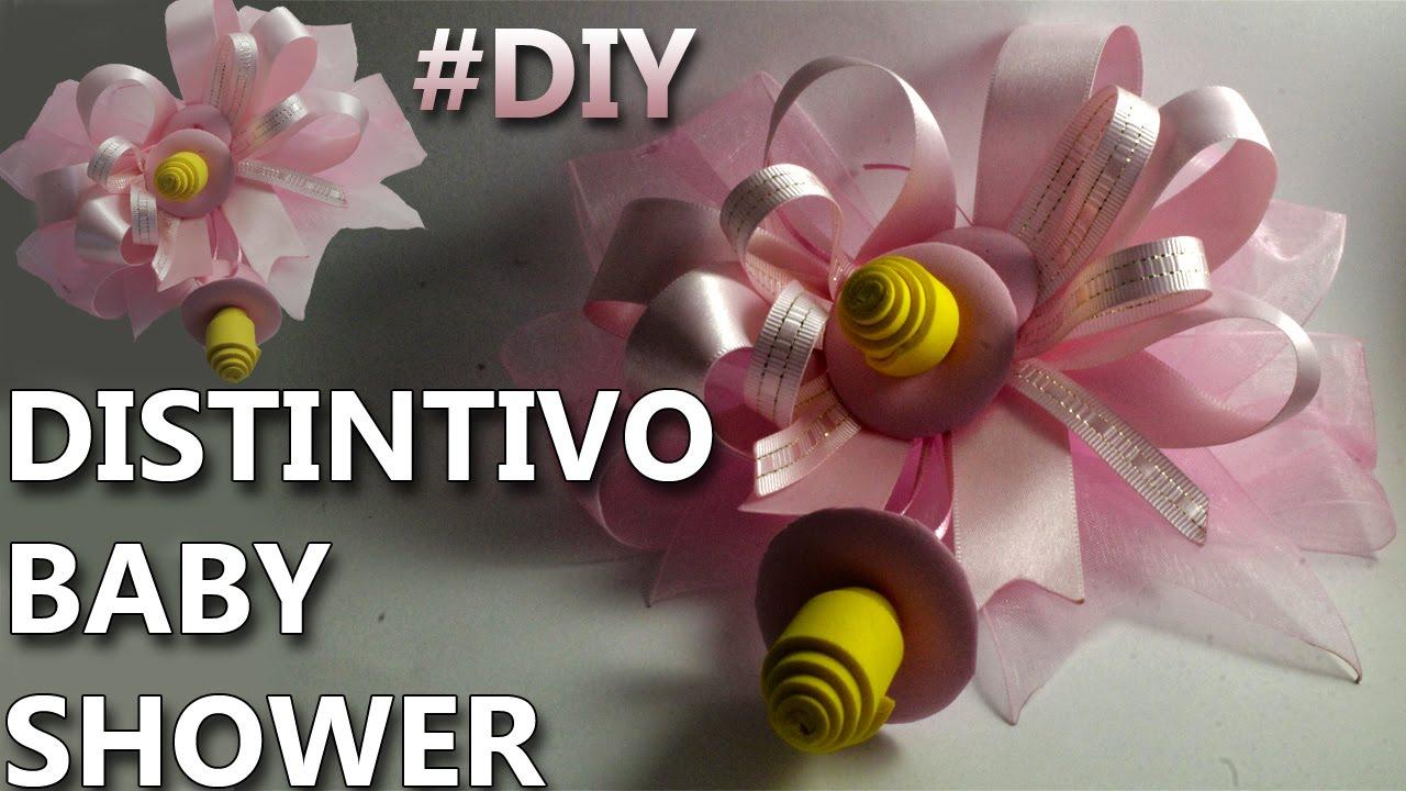 Como hacer un distintivo para baby shower manualidades - Como hacer manualidades faciles ...