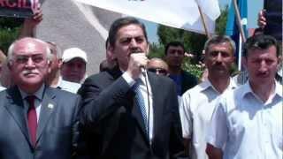 28 May 2012 Əli Kərimlinin Məhəmməd Əmin Rəsulzadənin abidəsi önündə çıxışı