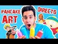 Dibujando con Pancake en Directo | Que Dibujamos ?? PANCAKE ART CHALLENGE