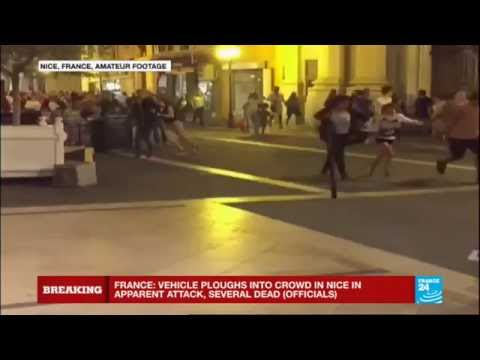 France: lorry drove into a crowd of people celebrating Bastille Day in Nice, 30 dead, driver shot