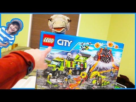 Lego Volcano Exploration Base Time Lapse Build!