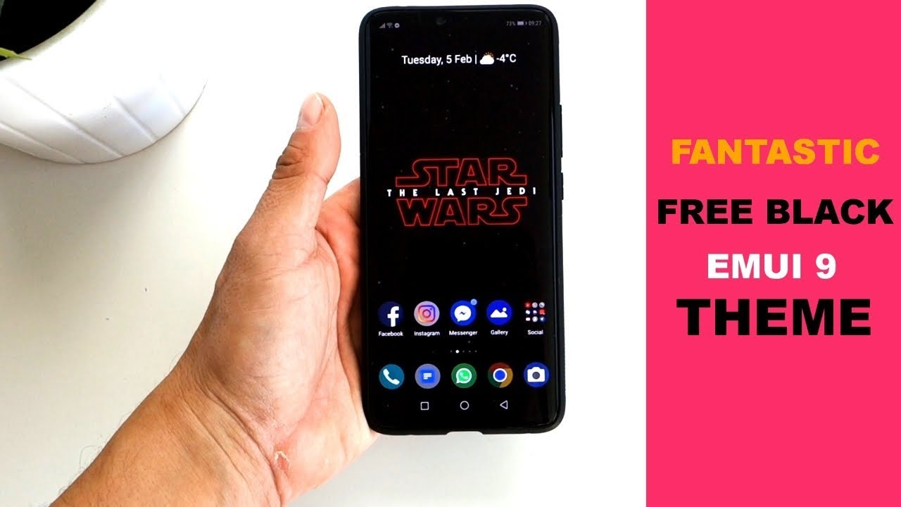 This is the BEST FREE BLACK Huawei/Honor theme for EMUI 9 | Deep Black