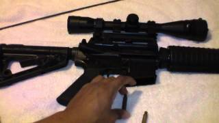 Carabina Colt M4 casquillo de metal vs. casquillo de laton