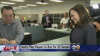 Kamala Harris Makes Her U.S. Senate Run Official