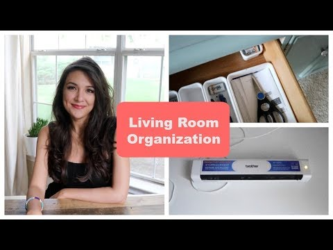 Minimalist Living Room Organization