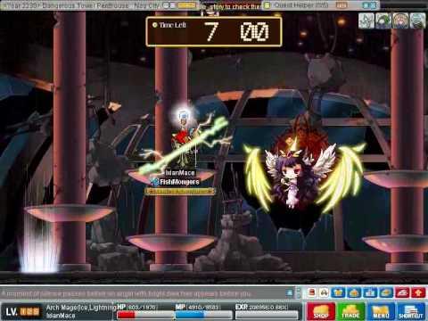 MapleStory IxianMace Oberon fight
