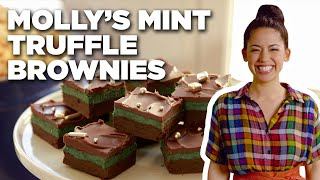Molly Yeh's Mint Truffle Brownies | Girl Meets Farm | Food Network