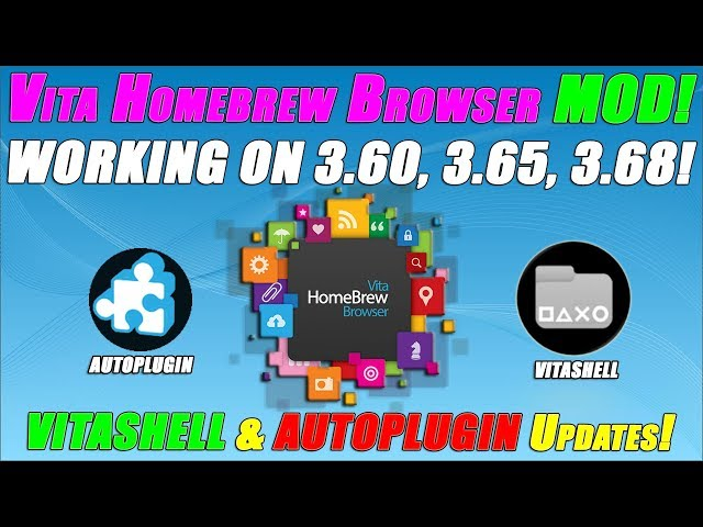 VITA HOMEBREW BROWSER MOD! WORKING ON 3 60, 3 65, 3 68! VITASHELL