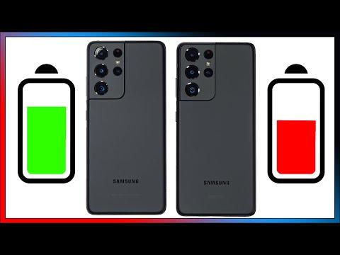 Exynos 2100 VS Snapdragon 888 30 Minute Battery Drain Test Samsung Galaxy S21 Ultra