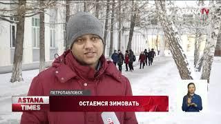 Студенты из Индии впервые увидели снег в Казахстане