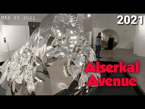 Visiting art galleries at Alserkal Avenue, Al Quoz, Dubai during Art Week (March 22-27, 2021)