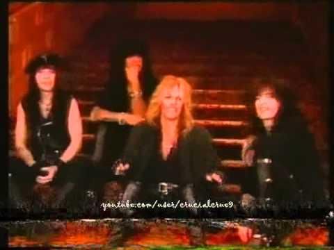 Various Mötley Crüe interview clips (Dr. Feelgood era)