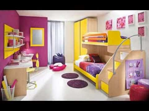 DIY girls shared bedroom design decorating ideas - YouTube