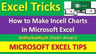 How to  Make Incell Charts in Microsoft Excel : Excel Magic Tricks [Urdu / Hindi]
