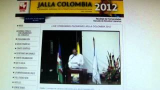 Jalla 2012. UniValle, Cali, Colombia. CLAUSURA. Ago. 3, 2012. Interviene Eduardo Subirats. II