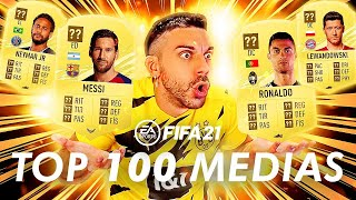 TOP 100 MEDIAS OFICIALES DE FIFA 21